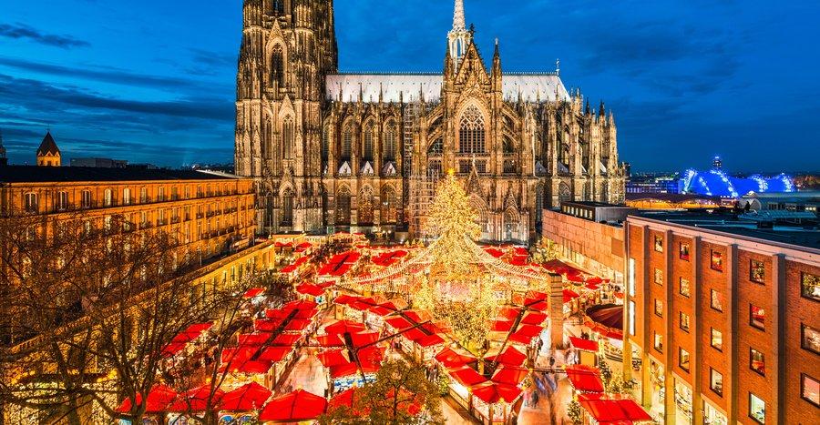 Mercado de natal em Colônia Alemanha