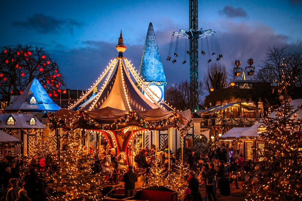Mercado de Natal em Copenhague - Dinamarca