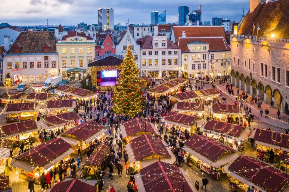 Mercado de Natal em Tallin - Estonia